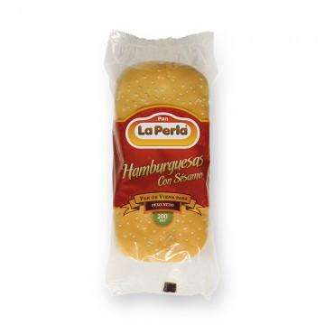 Pan de hamburguesa con sésamo